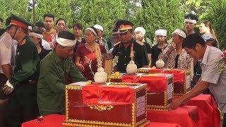 Hòa Bình đón nhận và an táng 31 hài cốt liệt sĩ trở về quê hương