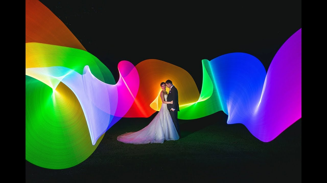 Light Painting Photography In Wedding - YouTube for Light Painting Photography Wedding  45jwn