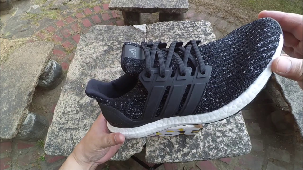 e3af553c935 Adidas UltraBOOST Core Black   FTWR White Unboxing - YouTube