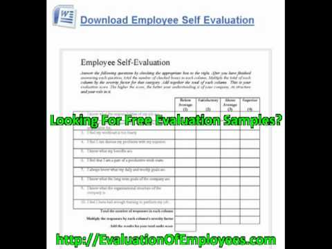 Employee Performance Evaluation Examples
