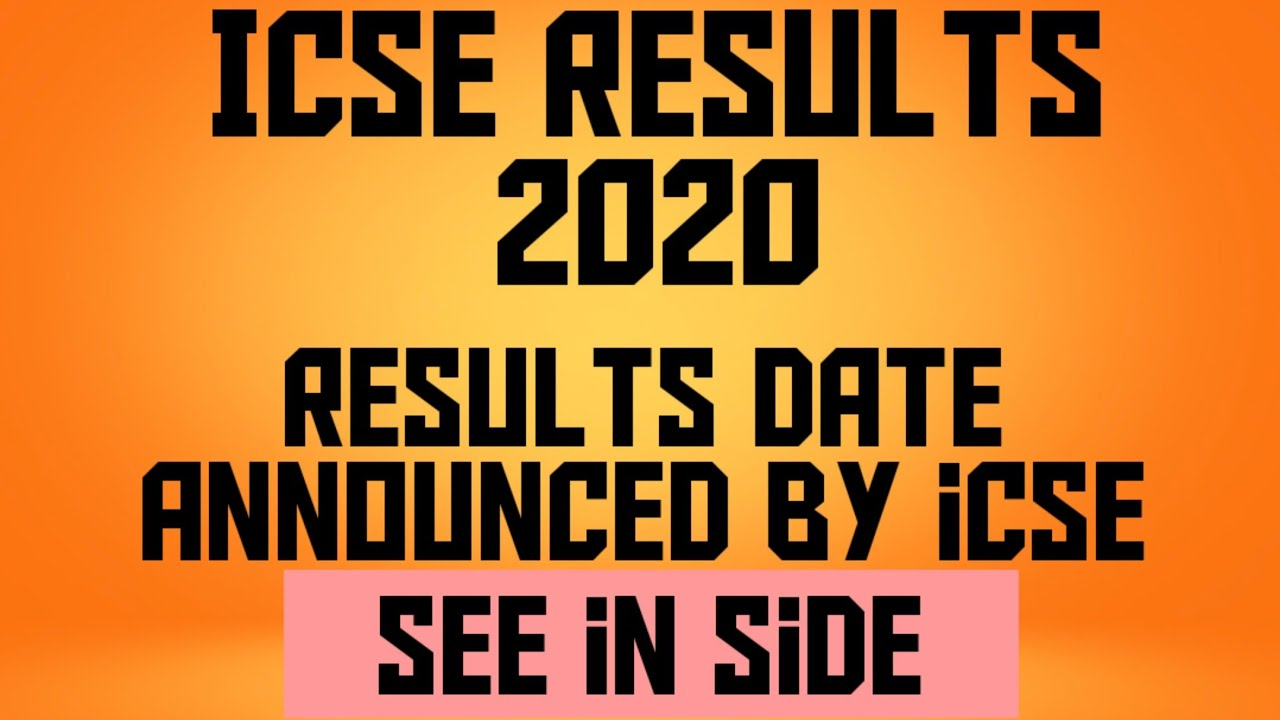 ICSE RESULTS 2020 LIVE UPDATE