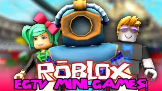 I FELL IN THE CRACK! *FaceCam!* ROBLOX E.G.T.V. MINI GAMES w/ Friends!