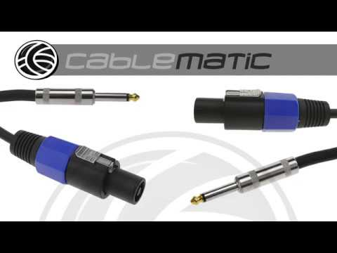 cable speakon altavoces nl2 a jack 15ga distribuido por cablematic youtube. Black Bedroom Furniture Sets. Home Design Ideas
