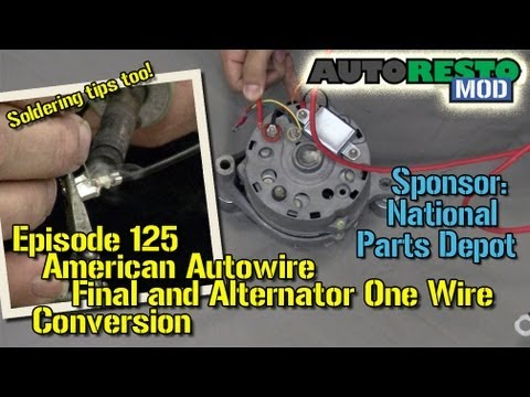 american autowire final and alternator one wire conversion episode rh youtube com 1966 Mustang Alternator Wiring Diagram 1964 Mustang Alternator Wiring Diagrams