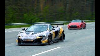 GT-R vs McLaren 650s and AVENTADOR. Заруба с E63 GAD 900hp. Сходка RRR.