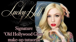 HOW TO create the perfect Old Hollywood Glam Make-Up! | Lucky Hell Glam Tutorial