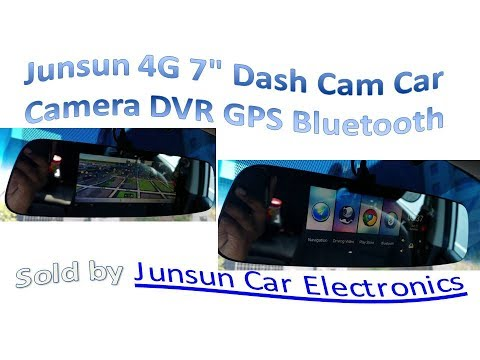 "Junsun 4G 7"" Dash Cam Car Camera DVR GPS Bluetooth"