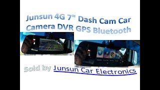 """Junsun 4G 7"""" Dash Cam Car Camera DVR GPS Bluetooth"""