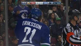 Former teammate robs Henrik Sedin of 1000th point