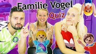 Playmobil FAMILIE VOGEL QUIZ - Wer kennt Hannah am besten? NINA VS KAAN im Wissens Duell