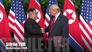 Povestea summitului istoric Trump-Kim difuzată de Știrile TVR. Cel care analizează întâlnirea este unul dintre cei mai mari specialiști pe spațiul coreean. Se numește Grigore Scărlătoiu, vorbește flue