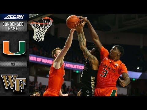 Miami vs. Wake Forest Condensed Game | 2018-19 ACC Basketball