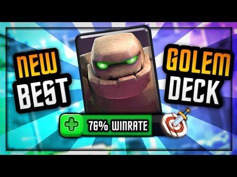 76% Win Rate GOLEM DECK :: 3 CROWN SPECIALIST - Clash Royale