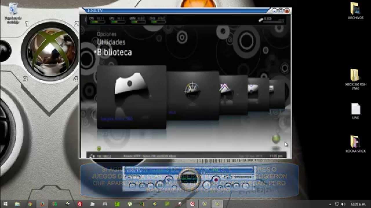 Configurar Freestyle 3 En Español Xbox 360 RGH Jtag Rabinal
