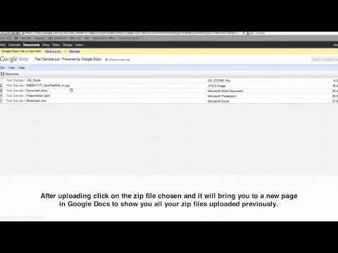 Google Docs Zip Files Youtube