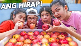 Siblings APPLE DUNK CHALLENGE!! (Laughtrip!) | Ranz and Niana