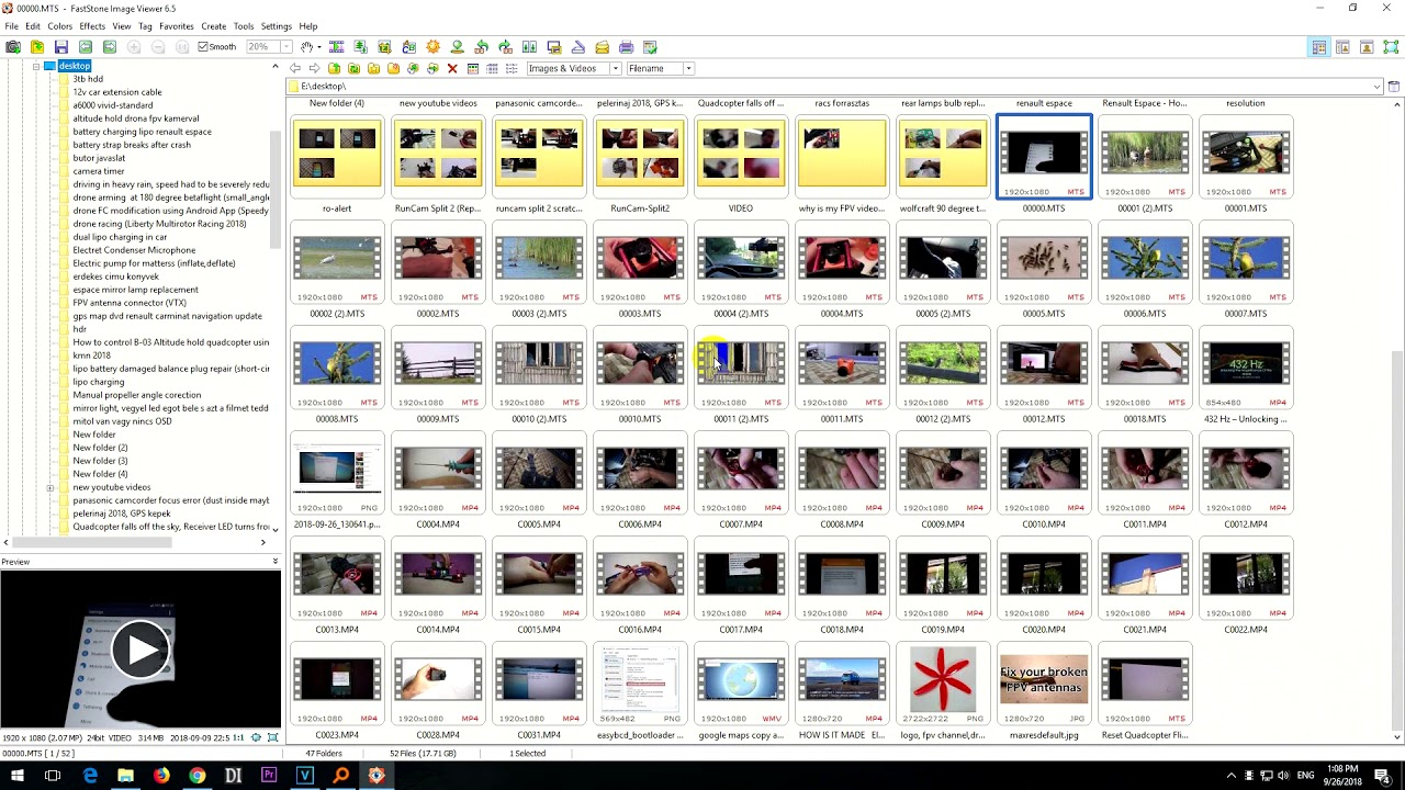 How to hide videos in FastStone Image viewer (show photos only)