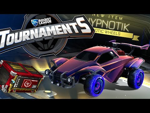 Tons of new Rocket League stuff! Triumph crate, HYPNOTIC WHEELS, and we play a tournament!