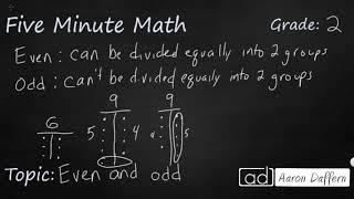 2nd Grade Math Even and Odd