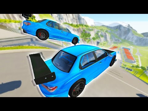 BEAMNG MULTIPLAYER! 2 PLAYER LONGJUMPING ON CAR JUMP ARENA! - BeamNG Drive Online Multiplayer w/Gray
