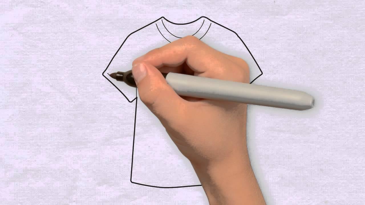 t shirt zeichnen in 50s zeichnen lernen f r anf nger kinder wie zeichnet man youtube. Black Bedroom Furniture Sets. Home Design Ideas