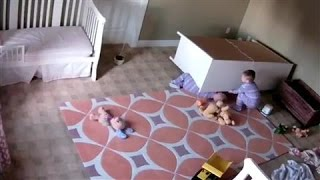 Toddler Saves Twin Brother Trapped Under Dresser