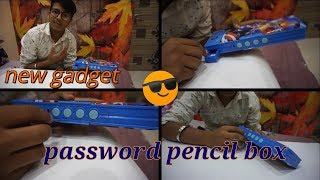 New gadget|| password protected pencil box|| geometry secured with password|| unboxing, reviews