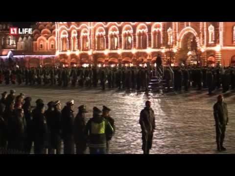 Second Night Rehearsal 2017 Russian Army Parade (Front Angle)