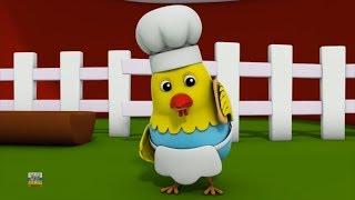 5 непослушных жирных куров | Прыжки на кровать | Дети песня | Five Naughty Fat Hens | Farmees Russia
