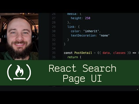 React Search Page UI (P5D48) - Live Coding With Jesse
