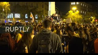 LIVE: Activists protest in support of jailed Catalan leaders in Barcelona