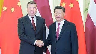President Xi meets visiting Latvian counterpart Raimonds Vejonis