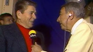 1983 WS Gm1: Cosell interviews President Reagan