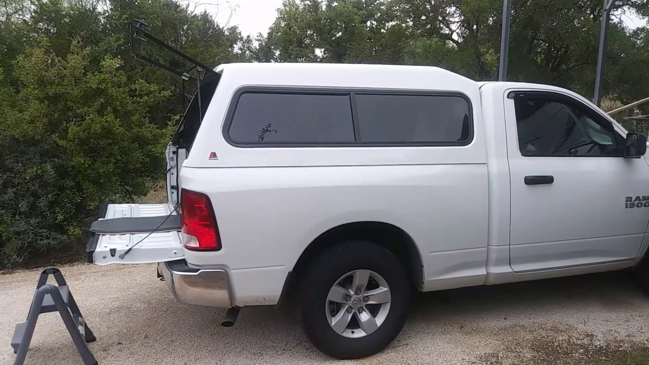 Toyota Tacoma Topper >> Leer 180 Pickup Camper Top Review - YouTube