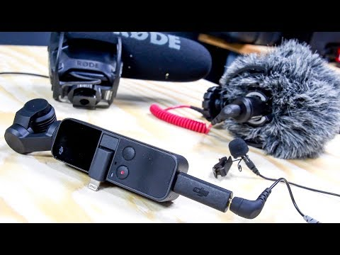 DJI OSMO Pocket Mic Adapter Tests // USB-C to 3.5mm Microphone Adapter