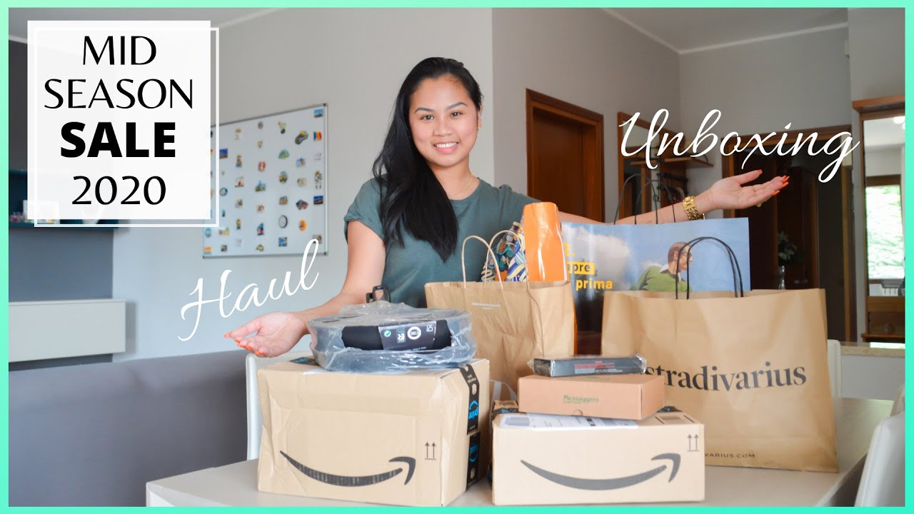 MASSIVE HAUL & UNBOXING | Mid Season SALE 2020 | Special delivery from Padua, Italy | Jennel Letizia