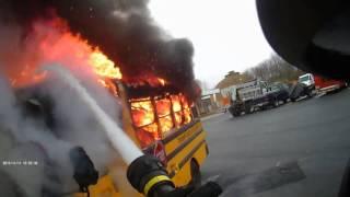 Bus Fire Helmet Cam