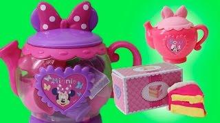 minnie mouse bowtique tea playset disney junior mickey mouse toys juego de t plastilina