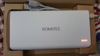 Khui hộp và đánh giá pin sạc dự phòng tốt nhất cho điện thoại - Pin 20000 mah Romoss SENSE 6