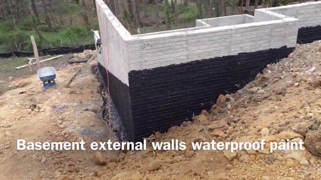Watching A House Being Built  Basement External Walls Waterproof Paint