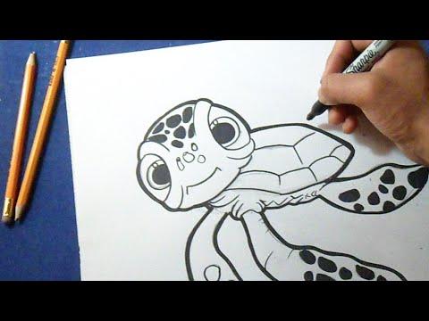 C 243 Mo Dibujar Tortuga De Quot Buscando A Nemo Quot How To Draw