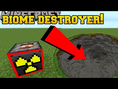 Minecraft: BIOME DESTROYING TNT!?!? - Explosives+ - Mod Showcase