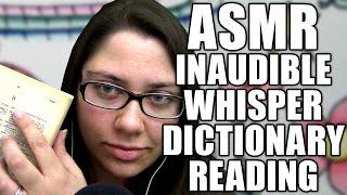 asmr up close inaudible whisper reading from a dictionary