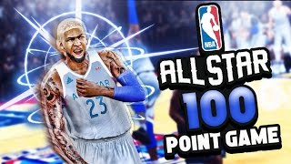 Demi god scoring 100 points in the all star game | lamelo ball defense | nba 2k17 mycareer