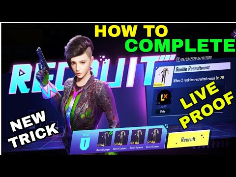 HOW TO COMPLETE RECRUIT EVENT PUBG MOBILE KR VERSION || NEW TRICK RECRUIT COMPLETE