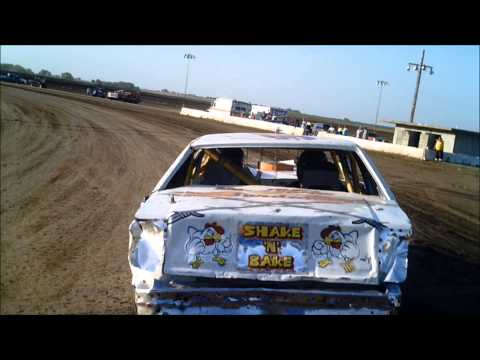 Belleville High Banks Cruiser Heat Race 7-5-2014 team Frint Racing with Drivers Ryan and Erin Boyer