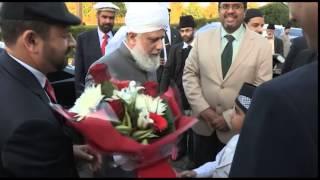 Hazrat Mirza Masroor Ahmad arrives in Dublin