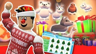 THE NEW CHRISTMAS ADΟPT ME UPDATE! I GOT ALL THE NEW PETS, TOYS AND SLEDS?