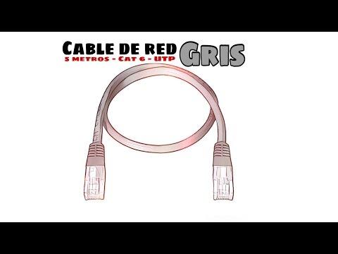 Video de Cable de red UTP CAT6 5 M Gris