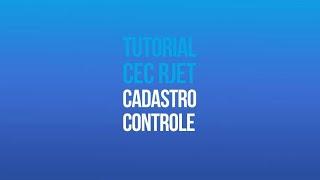 Tutorial RJET G1 - Cadastro de Controles